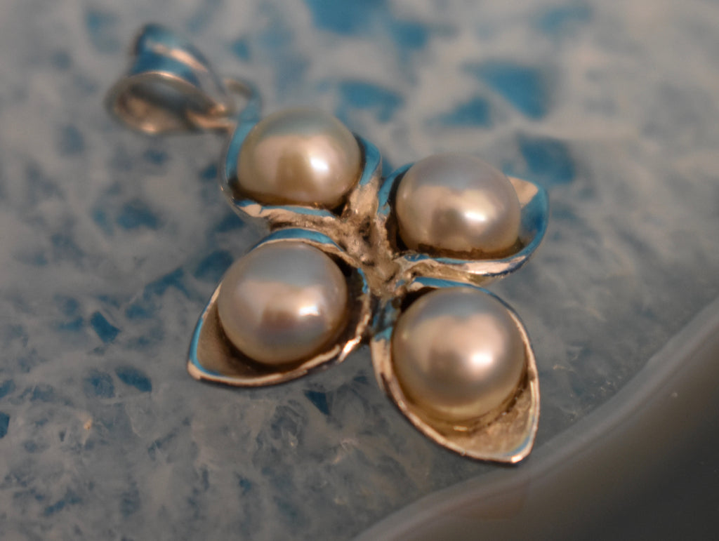 Sterling Silver Pearl Pendant (925)