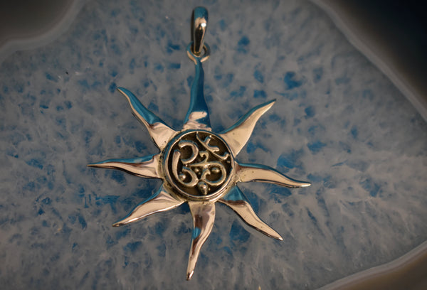 Sterling Silver Om Shaped Pendant (925)