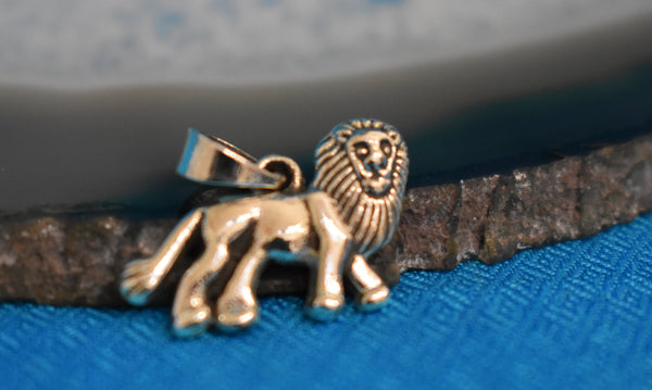 Sterling Silver Lion Pendant (925)