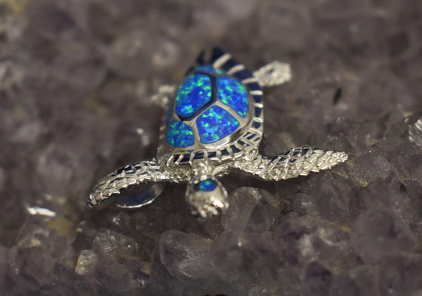 Cultured Opal Turtle Pendant