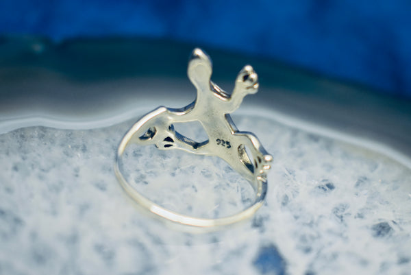 Silver Gecko Ring