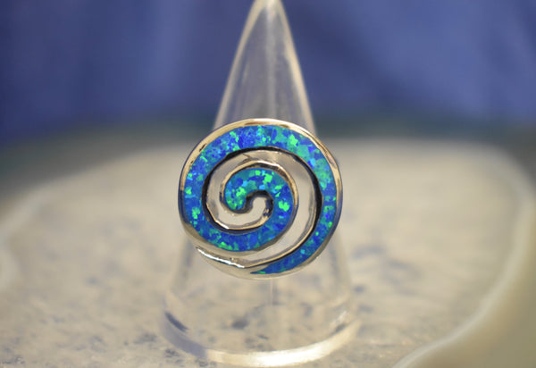 Cultured Opal Swirl Ring