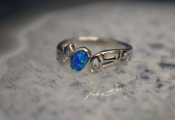 Small Detailed Cultured Opal Band