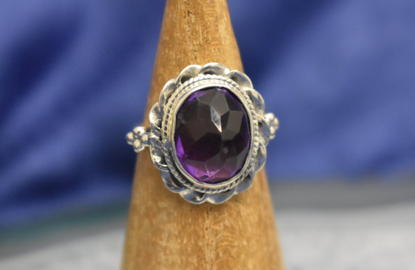 Amethyst Pointed Ring