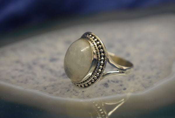 Dotted Moonstone Ring