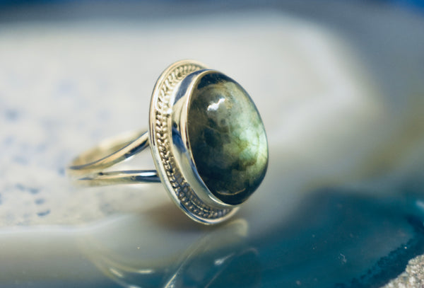 Detailed Labradorite Ring