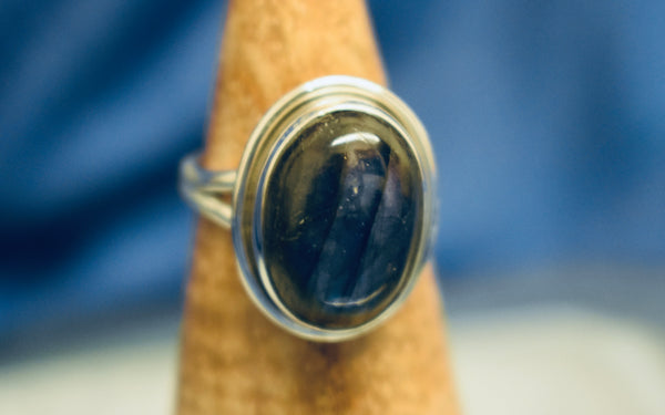 Plain Labradorite Ring