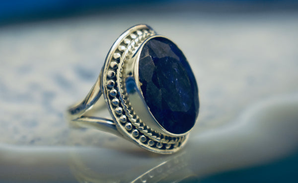 Dotted Sapphire Ring