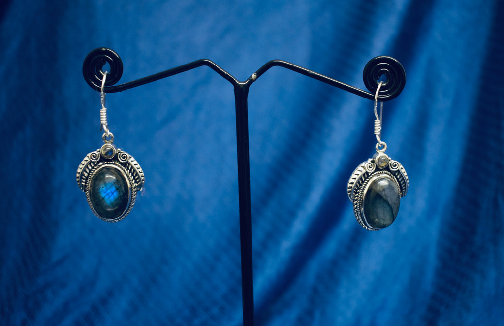 Detailed Labradorite Earrings