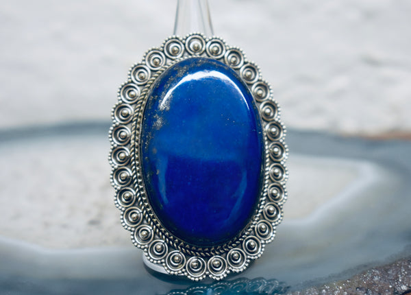 Large Lapis Ring Vintage Design