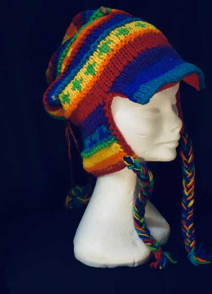 Cosy Winter Rainbow Hat
