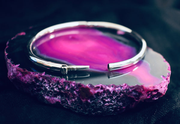 Silver Latch Bangle