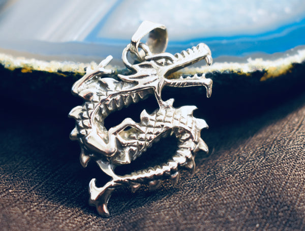 Chinese Twisted Dragon Pendant