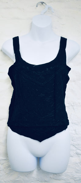 Black Vest Crop Top