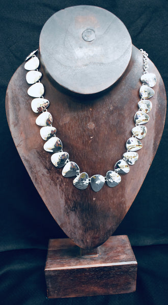 Solid Hammered Necklace