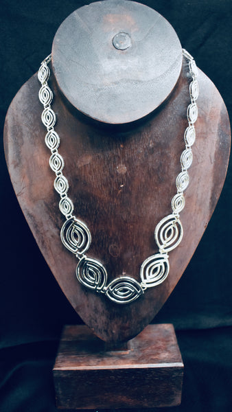 Chunky Silver Eye Necklace