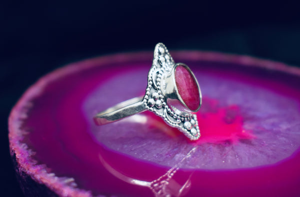 Detailed Ruby Ring