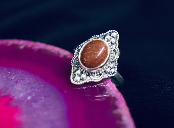 Detailed Goldstone Ring