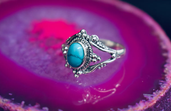 Detailed Turquoise Ring