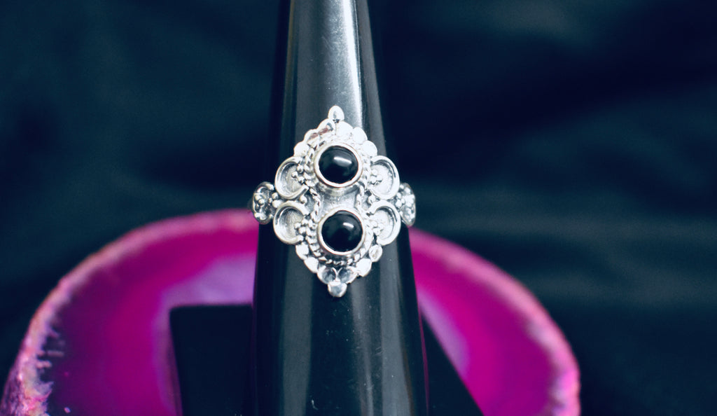 Double Onyx Ring