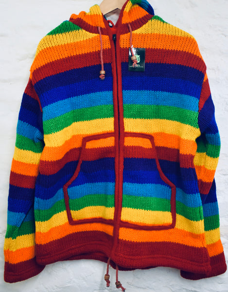 Thick Wollen Rainbow jacket