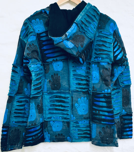Blue Patchwork Coat
