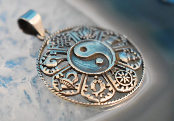 Sterling Silver Yin and Yang Pendant (925)