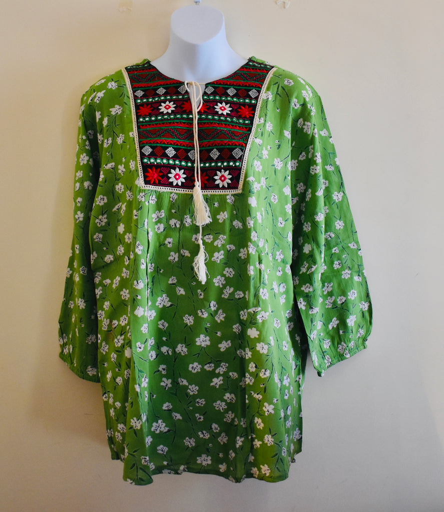 Handcrafted Green Blouse