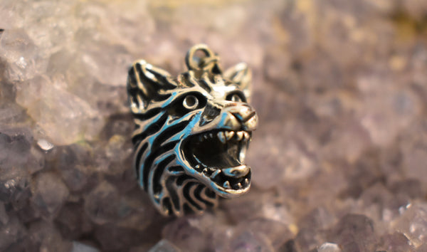 Sterling Silver Wolf Pendant (925)