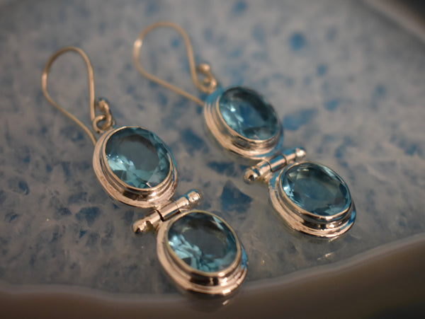 Sterling Silver Double Drop Earrings (925)