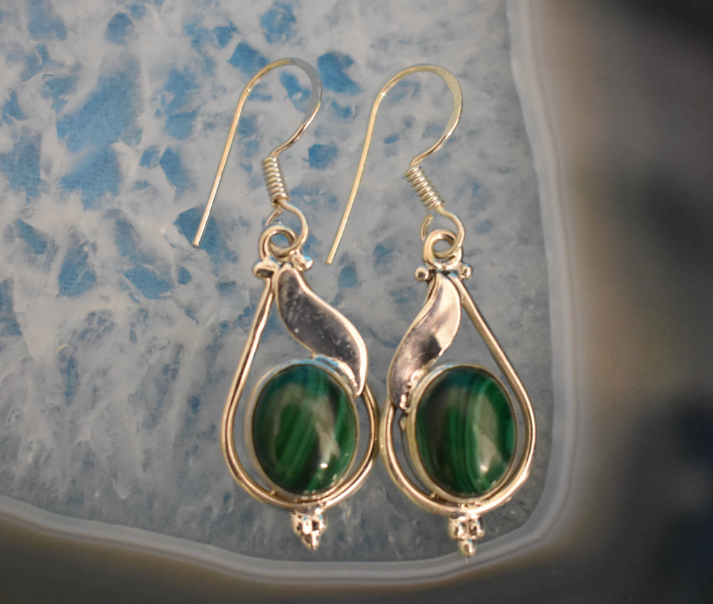 Sterling Silver Drop Earrings (925)