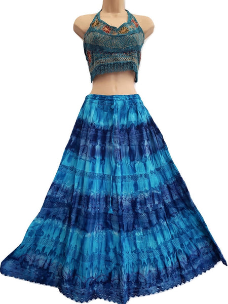 Rippled Colour Skirt