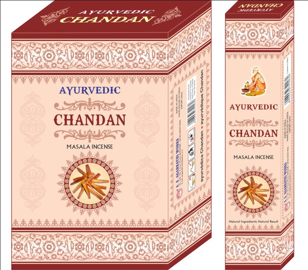 Ayurvedic Agarbatti Incense Sticks (Brown Chandan)