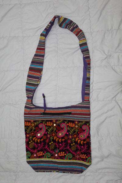 Beautiful Embroidered Canvas Sling Bag
