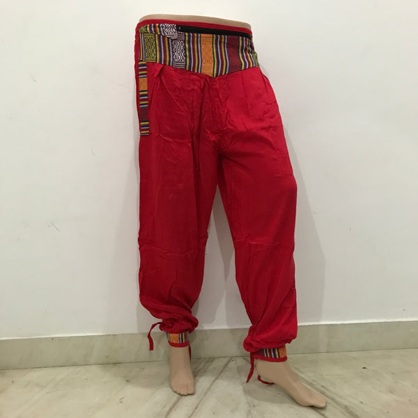 Cuffed Solid Colour Trousers