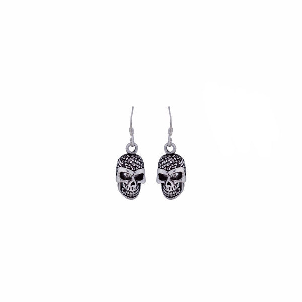 Beautiful Skull Shape Silver Earrings | 925 Sterling Silver