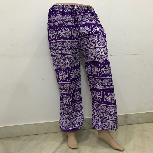 Comfy Cuffed Elephant Print Trousers