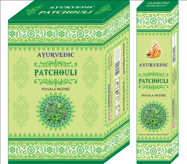 Ayurvedic Agarbatti Incense Sticks (Green Patchouli)
