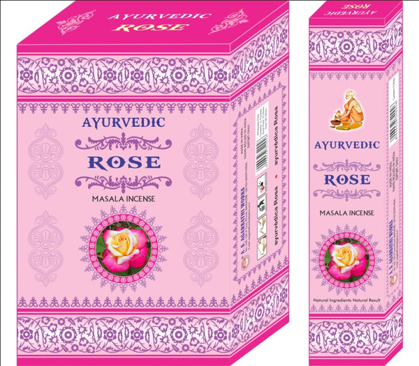 Ayurvedic Agarbatti Incense Sticks (Rose Pink)