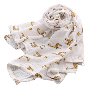 Organic Cotton Muslin Swaddle - Giraffe