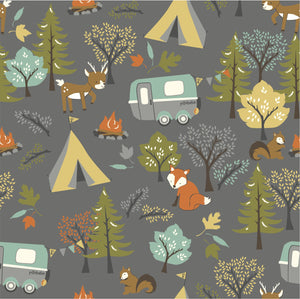 GOTS Certified Organic Cotton Fabric - Forest Friends