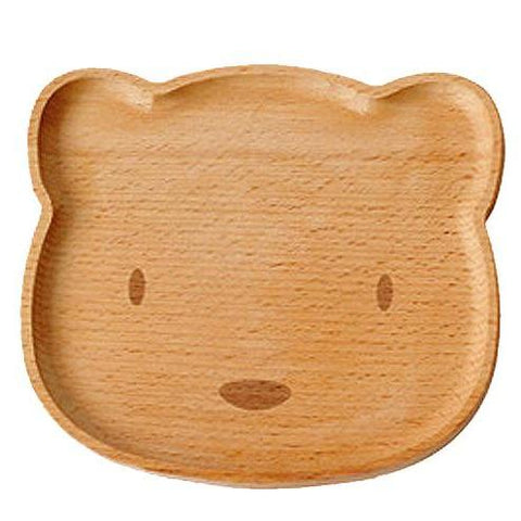 Wooden Snack Plate - Bear