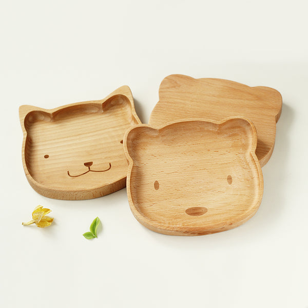 Wooden Snack Plate - Kitty