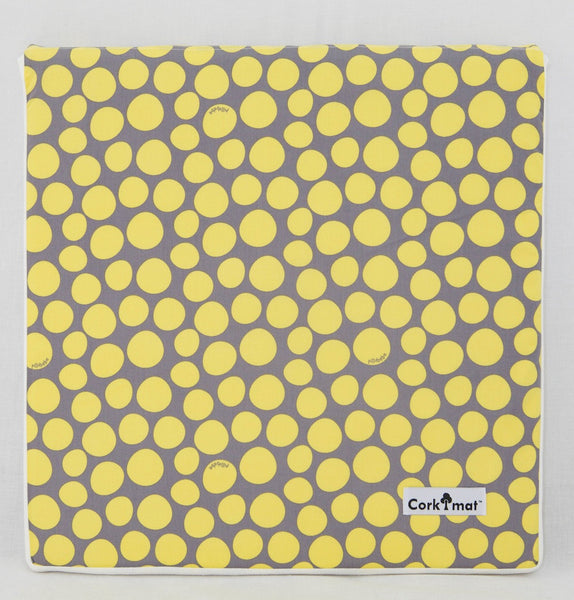 CorkiMat™ Tile - Yellow Pebbles