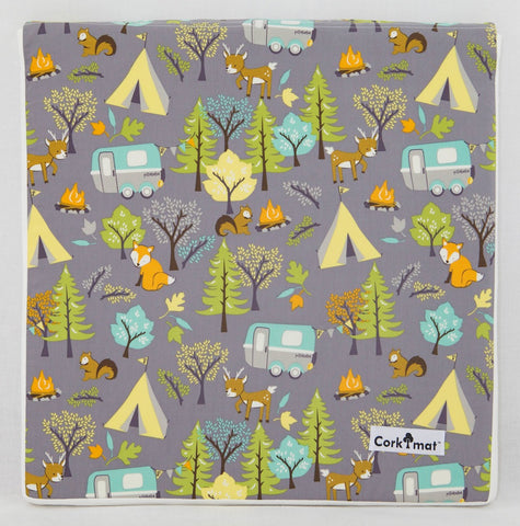CorkiMat™ Individual Tile - Forest Friends | Gray