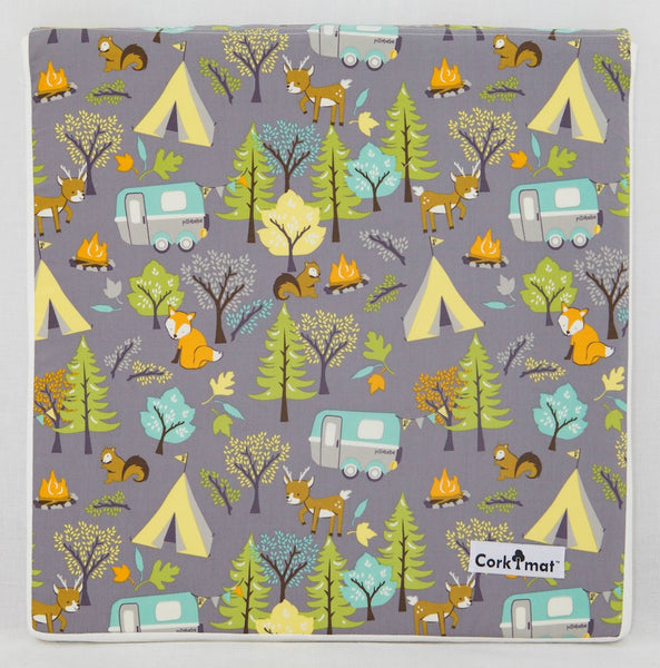 CorkiMat® - Forest Friends Gray