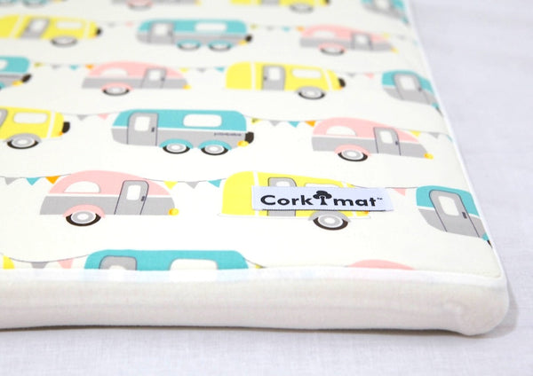 CorkiMat™ -  Campers & Pebbles Yellow