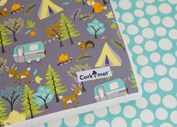 CorkiMat® - Forest Friends &  Mint Pebbles