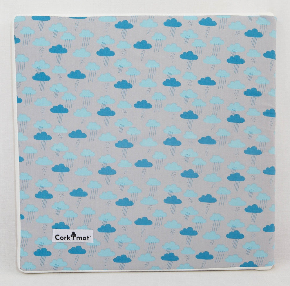 CorkiMat™ Individual Tile - Cloudy Days | Blue