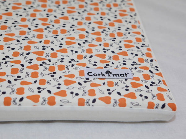 CorkiMat™ Individual Tile -  Apple and Pear | Orange